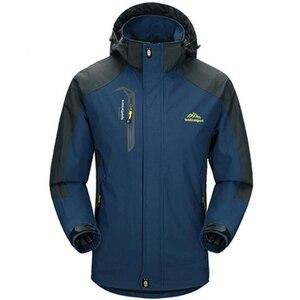 Image 1 - Chaqueta impermeable con capucha para hombre, abrigo transpirable para primavera y otoño, prendas de vestir, rompevientos, ropa del ejército, 5XL