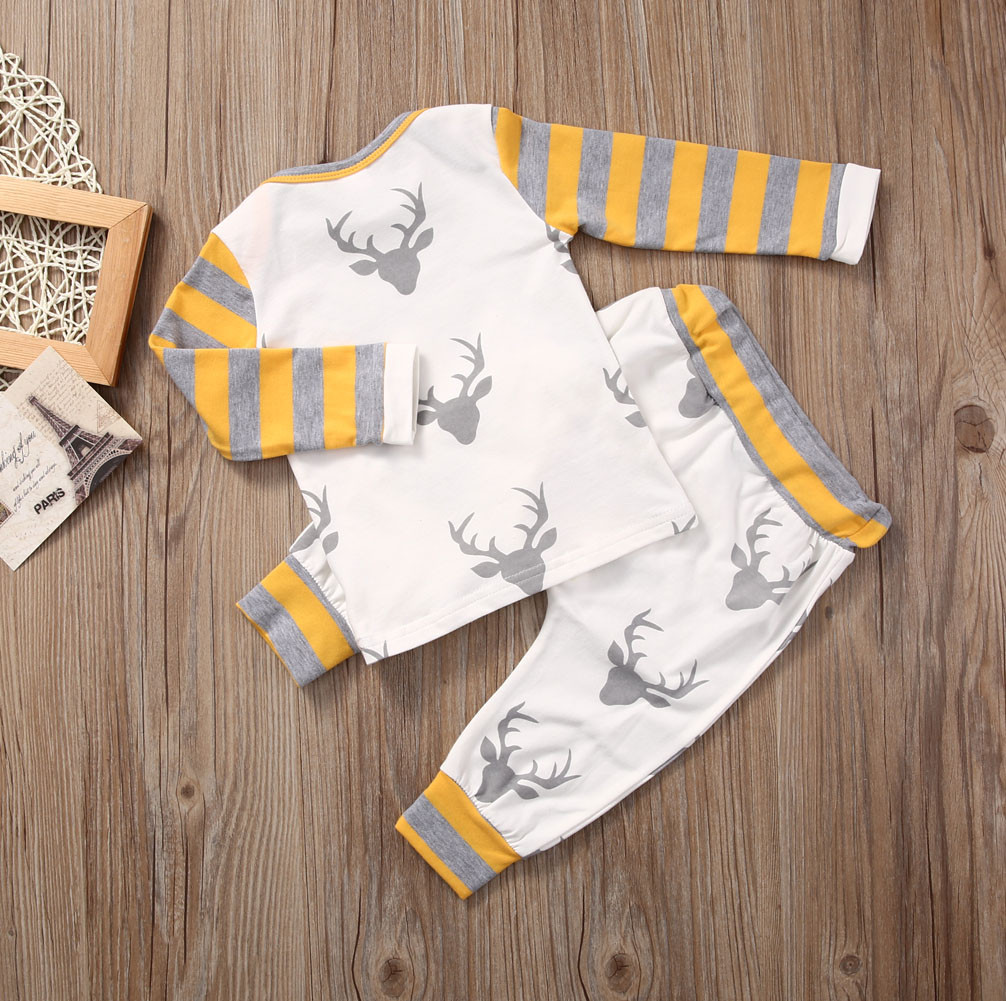 Newborn Baby Infant Boys Tops Rompers Pants Leggings Outfits Clothes 0-24M UK