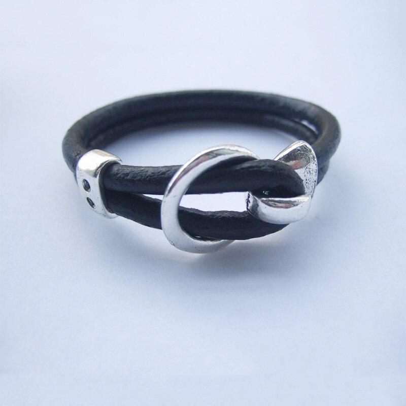 Azul Oscuro 100/% Natural De 2 Mm de cordón de cuero Tanga Hilo Collar /& Joyas