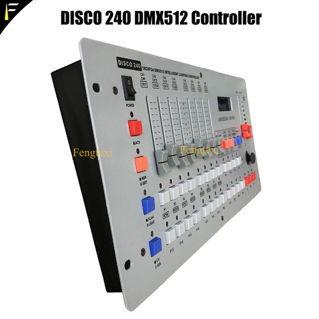 US $65 0  Disco 240 DMX Console 16CHx24 DMX512 Intelligent Lighting  Controller Kit Fit For Disco/DJ/Dance Luminaire Light Show dmx-in Stage  Lighting