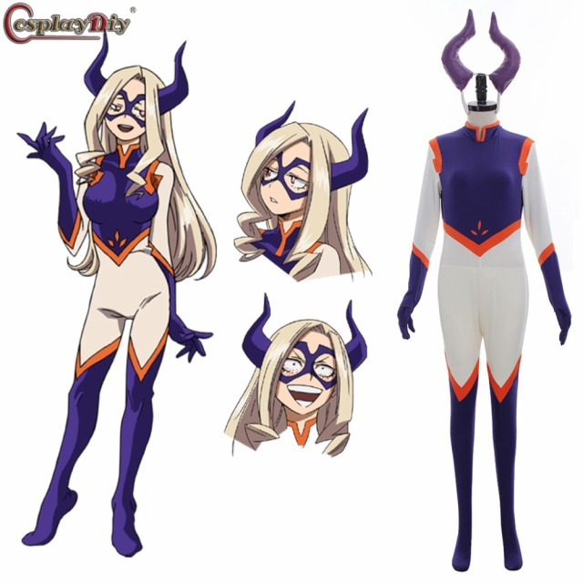 Cosplaydiy My Hero Academia Boku no Hero Akademia Mount Lady Cosplay Costume Adult Women Girl Halloween Jumpsuits Rompers J1