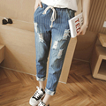 2015 Hot sale Women's jeans Fashion Mickey Hitz loose straight jeans casual trousers harem pants female models