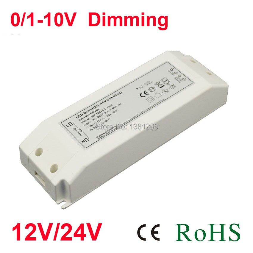 DC 12 V 24 V alimentation transformateur d'éclairage électronique 220 V 12 volts adaptateur drivers gradateurs de LED 0-10 V alimentation 20 W 30 W bande