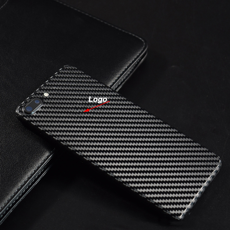 8 Colors Decorative Back Film For iPhone7 iPhone 8 6 6S Plus XS X XSMAX 5S SE Phone Protector Carbon Fiber Stickers With Gift