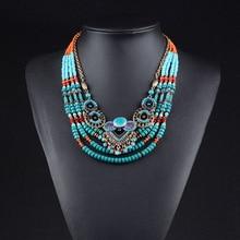 2018 New Brand Fashion Big Beads Collar Choker Necklace Pendants Boho Multilayer Maxi Statement Necklace Women Jewelry
