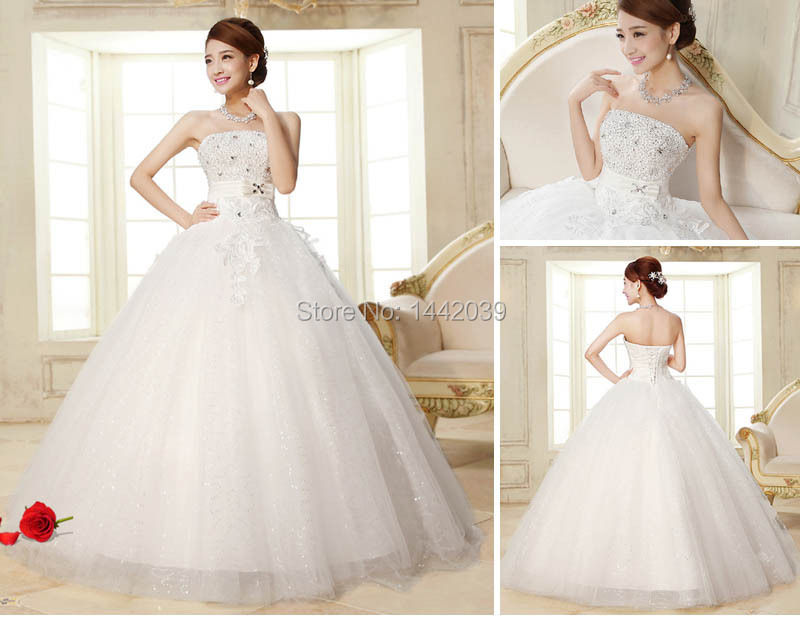 Hot Sale Cheap Wedding Dresses Under 100 From China White Glitter ...