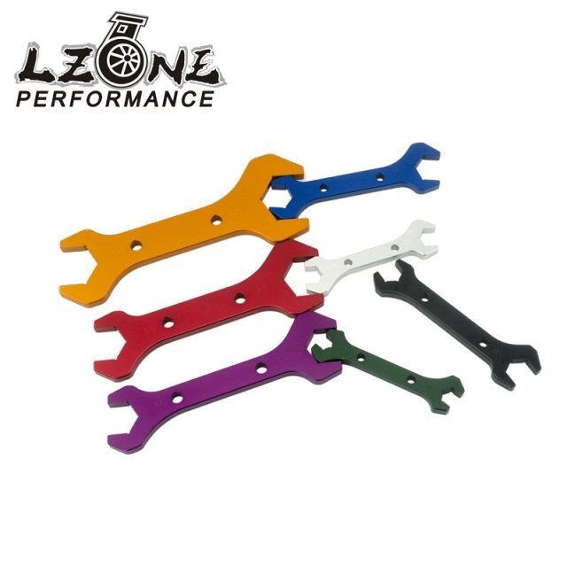 LZONE AN Aluminum WRENCH HOSE Fitting tool aluminum Spanner DOUBLE ENDED AN3 AN20 7PCS SET JR