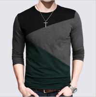 브랜드 clothing t 셔츠 남성 디자인 슬림 맞는 긴 소매 캐주얼 t 남성 t 셔츠 티 탑 플러스 사이즈 4XL 5XL tshirt 옴므 # B0