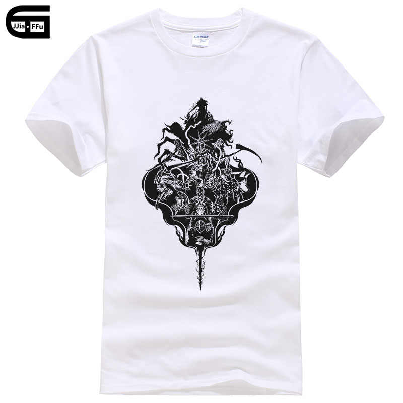 b3d0c5f477d Summer T Shirt Men Cotton Short Sleeve T-shirt Dark soul series Print  Harajuku Short