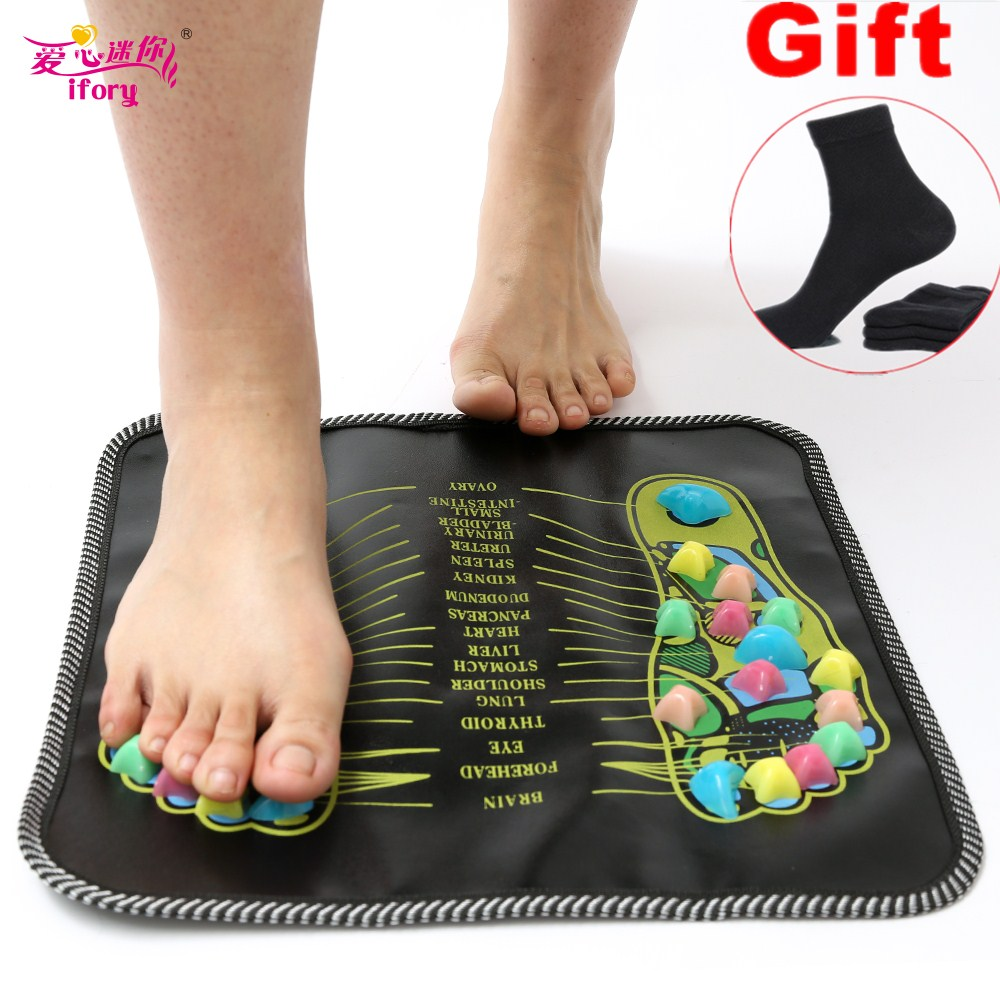 Hot Sale Colorful Plastic Foot Massager Pad Reflexology Walk Stone Acupressure Mat Pad Massageador for Foot Leg Pain Relief aptoco chinese reflexology walk stone pain relieve foot leg massager mat health care acupressure