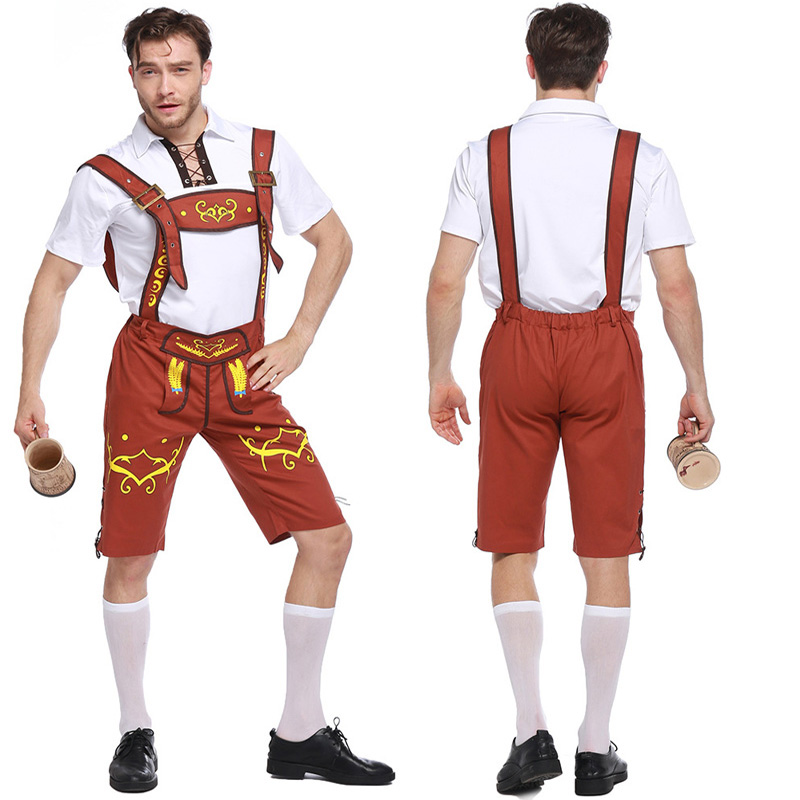 Plus Size Oktoberfest Costume men Traditional German Bavarian Beer Male Cosplay Halloween Octoberfest Festival Party Clothes