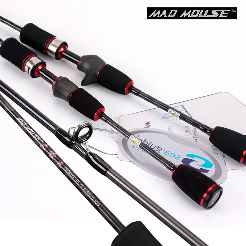 NEW MAD MOUSE 50T TORAY High Carbon Fuji Reel Seat 1.9m UL/L Action Double Tips Trout Rod Two Tips Spinning And Casting Rod