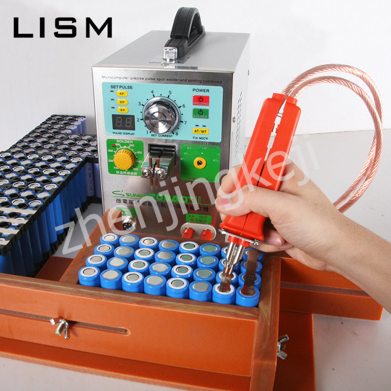 Lithium Battery Spot Welder Machine Induction Automatic Power Battery Pack Welding Machine Fan Cooling Intermediate Frequency in Spot Welders from Tools