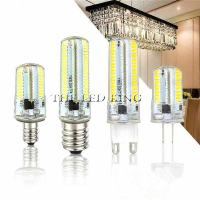 3W 5W 9W 12W 15W21W SMD3014 G4 Lampu LED DC 12 V/AC 220V silikon Bohlam 24/32/48/64/104/152 LED Ganti 10W 30W 50W Lampu Halogen