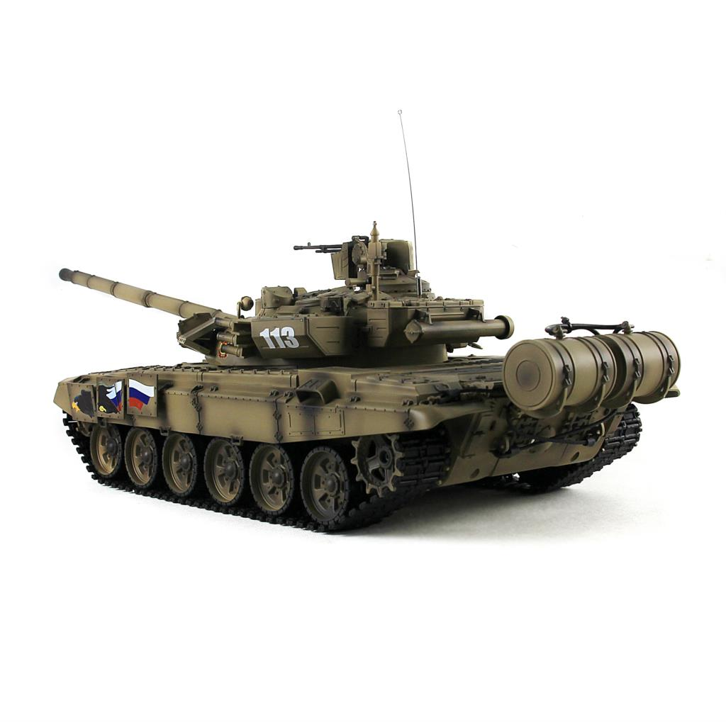 Yellow Color 2.4Ghz HengLong 1/16 Scale Darkish Green Russian T90 RTR RC Tank Model Plastic Tracks Wheels 3938 все цены