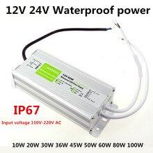 Fuente de alimentación impermeable LED, AC110 220V a 10W, 20W, 25W, 30W, 45W, 50W, 100W, 150W, luces de tira al aire libre, monitor, transformador de equipo