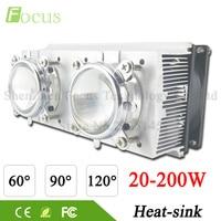 LED Heatsink Cooling Radiator 60 90 120 Degrees Len Reflector Bracket Fans For High Power 20