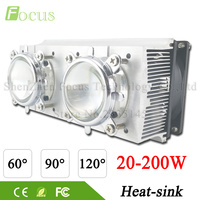 LED Heatsink Cooling Radiator 60 90 120 Degrees Len Reflector Bracket Fans For High Power 20