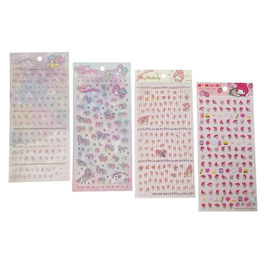 1 Pcs/lot My Melody Twin Star Memo Sticker Cute Drawing Market Diary Transparent Scrapbooking Calendar Album Decor Sticker my fairies sticker storybook