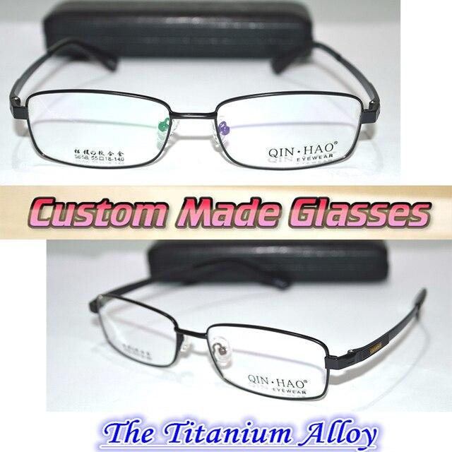 Custom made Reading glasses Mg al titanium alloy semi-rim black +0.5 +0.75 +1.25  +1.75 ++2.25 +2.75 +3.25 +3.75 +4.25 to +6.0