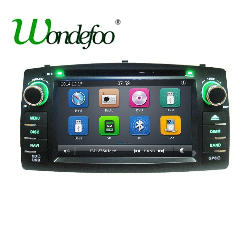 imágenes para Para BYD F3 Toyota Corolla E120 2 DIN coche reproductor de DVD con GPS Radio stereo pantalla capacitiva STW USB Audio multimedia de navegación
