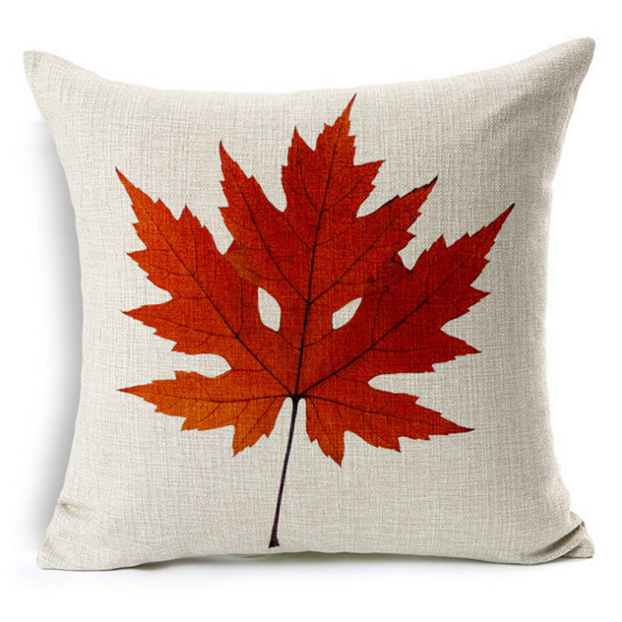 online get cheap decorative pillows red aliexpresscom  alibaba  - red yellow maple leaf floral decorative pillows throw cover pillowcasetropical plant chair sofa throw cushion