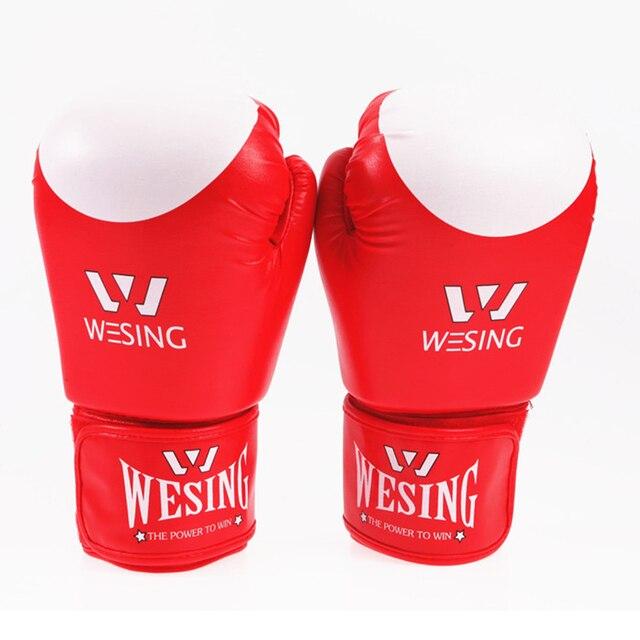 ccae95677 2016 New Male Female PU Muay 600g Thai Boxing Gloves Sanda Kungfu Wushu  Women Men Fighting Sandbag Training luvas boxeo Guantes