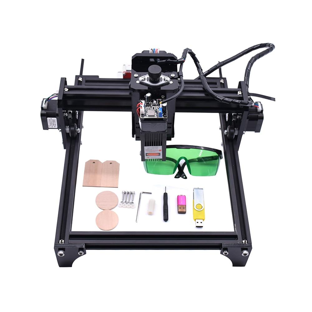 15W CNC Laser gravure Machine bois routeur 15000MW Laser tête PCB verre métal fraiseuse bois sculpture Machine bricolage Mini