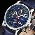 Curren Homens Relógios de Marca de Luxo Da Moda Casual Masculino de Couro Genuíno Relógio Masculino Relógio Homens relogio masculino 2016 reloj hombre