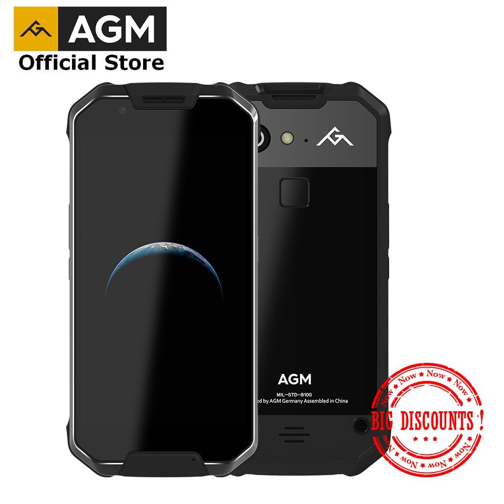OFFICIAL AGM X2 SE Android 7.1 Durable Smart Phone 6+64G 5.5AMOLED Screen IP68 Waterproof 6000mAh Dual SIM 16.0 MP front camera