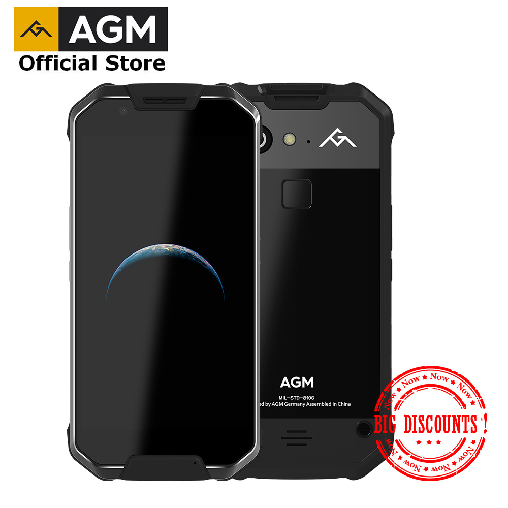 """OFFICIAL AGM X2 SE Android 7.1 Durable Smart Phone 6G+64G 5.5""""FHD Screen IP68 Waterproof 6000mAh Dual SIM 16.0 MP front camera"""