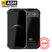 OFFICIAL AGM X2 SE Android 7.1 Durable Smart Phone 6+64G 5.5 Leather IP68 Waterproof 6000mAh Dual SIM 16.0 MP front camera