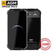 "OFFIZIELLE AGM X2 SE Android 7.1 Langlebig Smart Telefon 6 + 64G 5,5 ""Leder IP68 Wasserdichte 6000mAh Dual SIM 16,0 MP frontkamera"