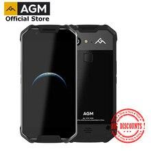 """RESMI AGM X2 SE Android 7.1 Dayanıklı Akıllı Telefon 6 + 64G 5.5 """"Deri IP68 Su Geçirmez 6000mAh çift SIM 16.0 MP ön kamera"""
