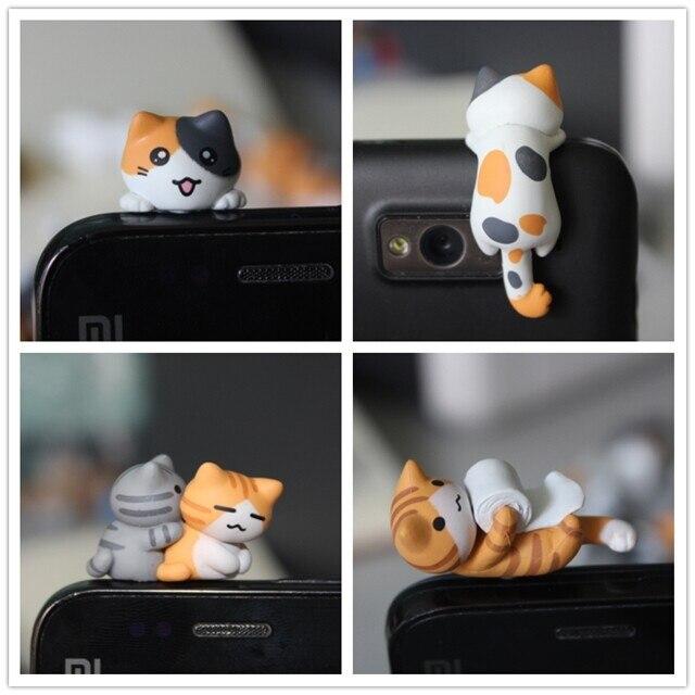 imágenes para Venta al por mayor kpop kawaii calidad original de Chi gato enchufe Anti del polvo para ks de anime lindo gato del auricular del casquillo del oído del teléfono celular 17 estilo
