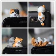 Vente en gros kpop kawaii qualité originale Chis chat Anti poussière prise pour téléphone portable ks mignon anime oreille jack écouteurs bouchon mélange style