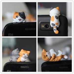 Image 1 - Оптовая продажа kpop kawaii оригинальное качество Chis cat противопылевая заглушка для сотового телефона ks милый аниме разъем для ушей в разных стилях