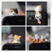 도매 kpop kawaii 원래 품질 치의 고양이 안티 먼지 플러그 휴대 전화 ks 귀여운 애니메이션 귀 잭 이어폰 모자 믹스 스타일