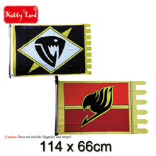 New Fairy Tail Logo Flag Naz Lucy Anime Cosplay Flags banner party room decoration 114cm by 66cm