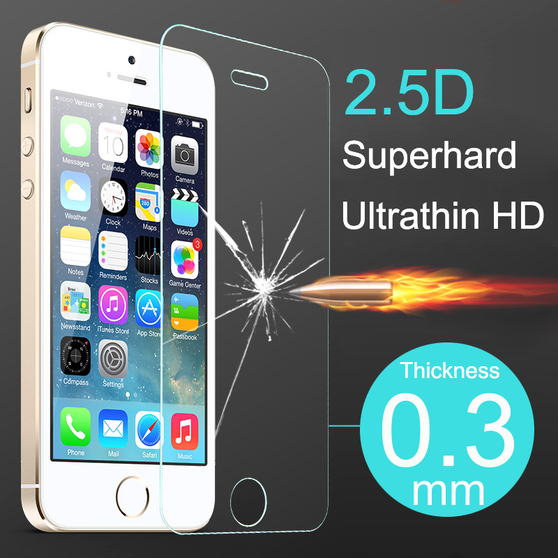 New Premium Tempered Glass Screen Protector for iphone s c Protective Film