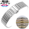 AUTO Watch Band 316L Stainless Steel Watchbands Bracelets Steel Watch Strap for Longines Ck Ultrathin Watch 18mm+ Free TOOLS