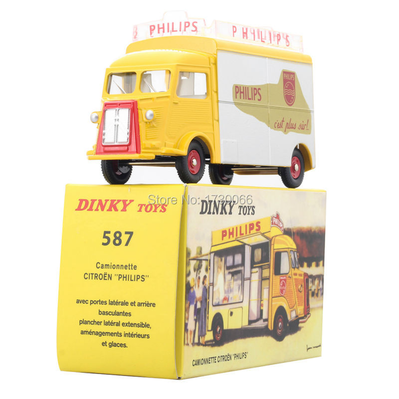 1:43 DINKY TOYS 587 CAMION CAMIONNETTE CITROEN TUB HY H PHILIPS ATLAS Alloy Diecast Car model & Toys Model for Collection citroen type h 1952 eligor citroen car models 1 43