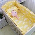 6 pçs/sets Nordic Estilo 100% Do Bebê Do Algodão Cama Define Lençóis Fronha Fundamento Do Bebê Cirb Cloud Padrão Bumper Decorações