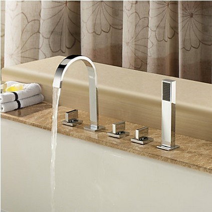 Copper Bathtub Faucet Five Piece Split Seat Type Cylinder Edge Hole 5 Shower Sets In Faucets From Home Improvement On