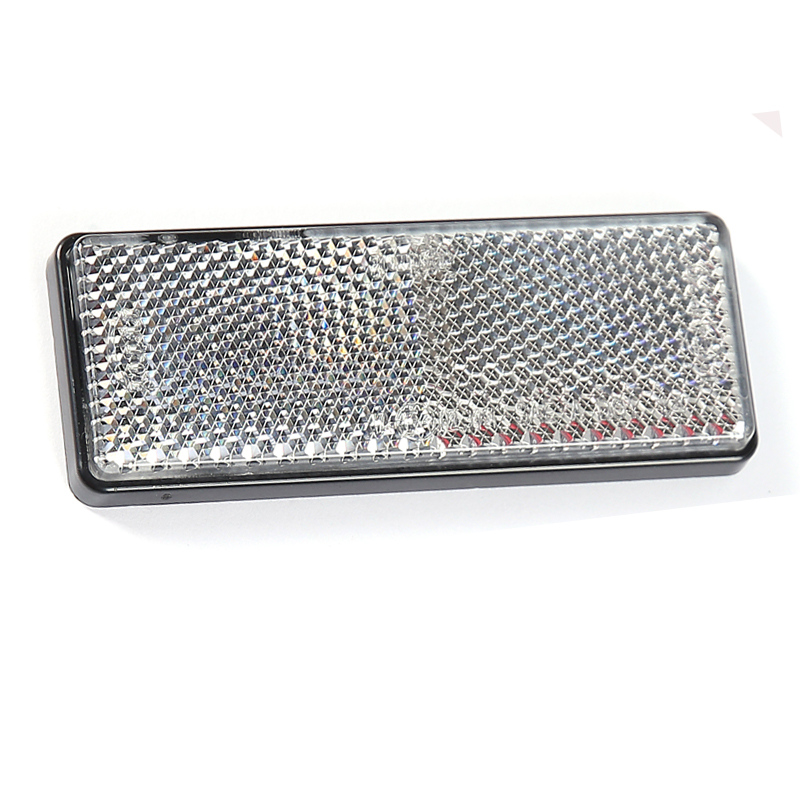 Image 2 - 2 pcs White reflector self adhesivel rectangular reflect strip for trailer truck lorry bus RV caravan camp bike accessories camp-in Reflective Strips from Automobiles & Motorcycles