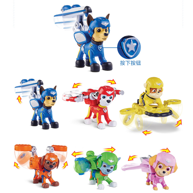 7Pcs set Paw Patrol Dog Pup Air Rescue Puppies Skye Rubble Ryder Chase Action Figure Model Toy Children Gift in Action Toy Figures from Toys Hobbies
