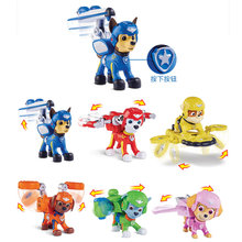 7Pcs/set Paw patrol dog space series deformation plastic toy children animation model childrens gift