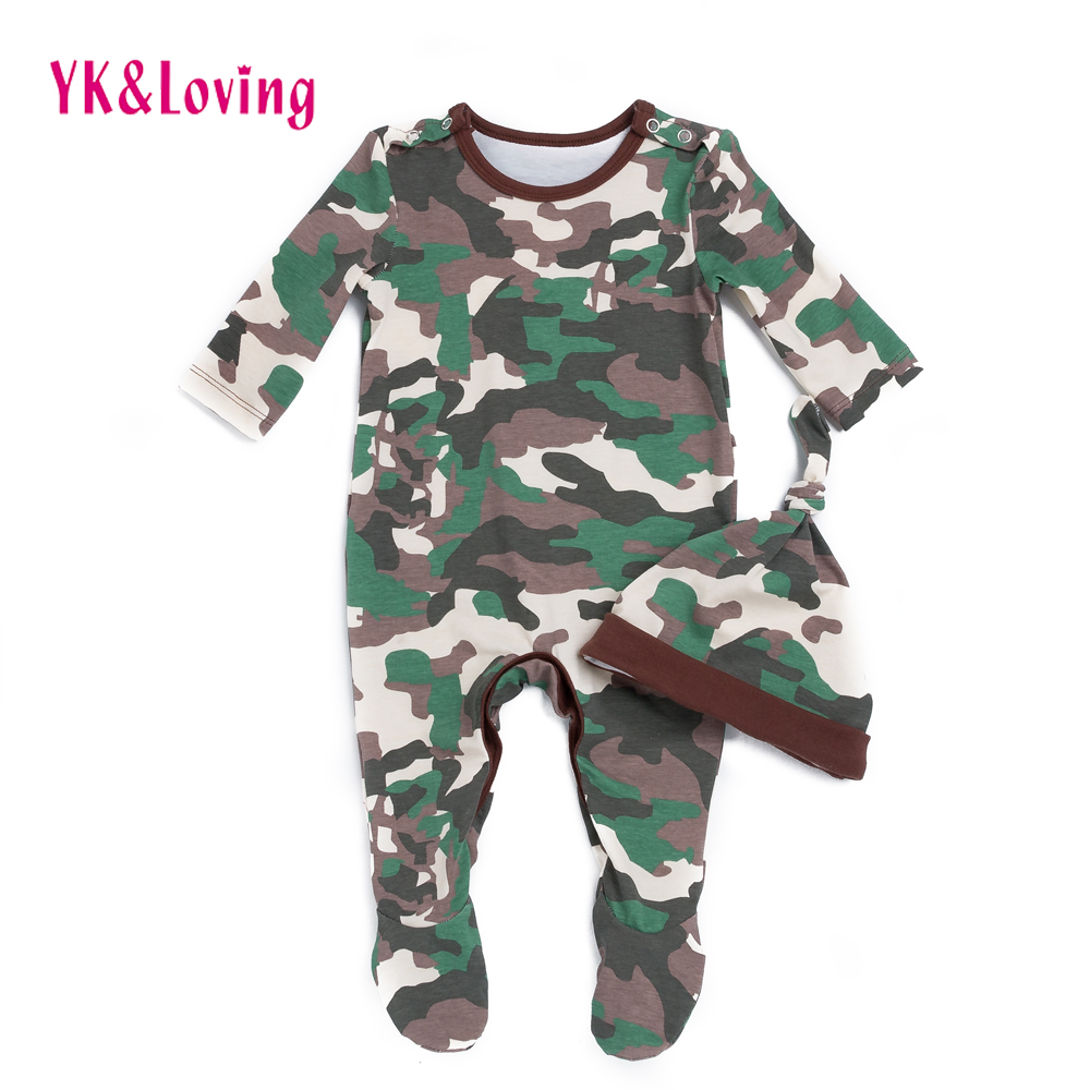 Camouflage Baby Rompers For Newborns Clothes Winter Full Long Sleeve Costume Cotton Infant Boy Girl Clothing Overalls Jumpsuit in Rompers from Mother Kids