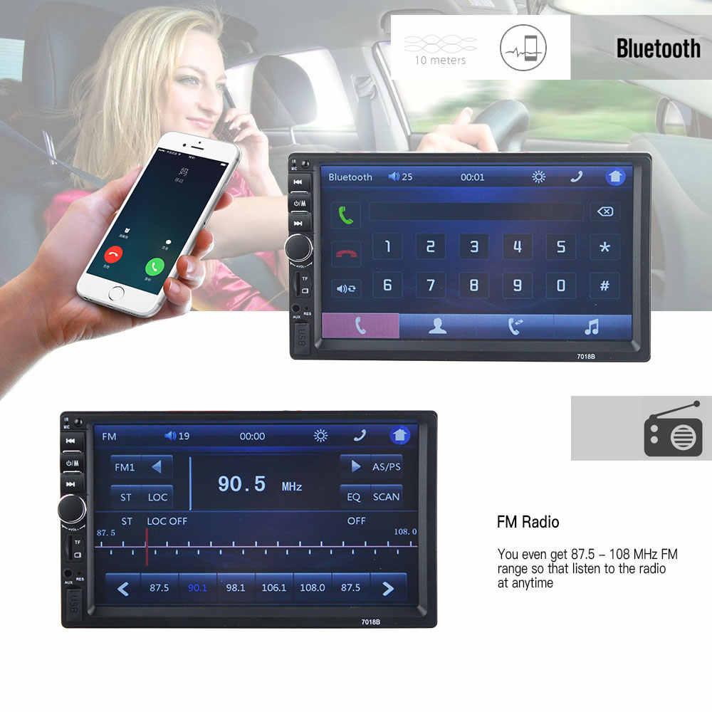 """2 喧騒車の中央マルチメディア MP5 プレーヤー 7 """"タッチスクリーンオーディオステレオの Bluetooth Usb TF FM サポートバックアップカメラオートラジオ"""
