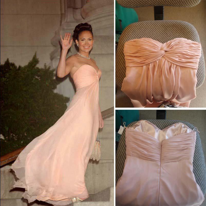 Fashion Pink Maid In Manhattan Jennifer Lopez Chiffon
